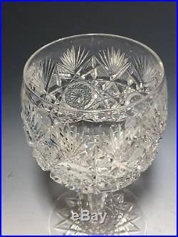 Set of 12 Antique American Brilliant Cut Crystal Glasses