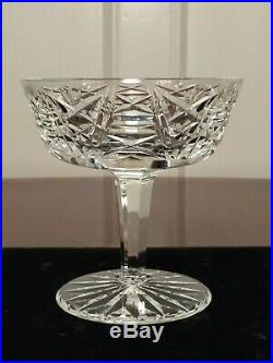 Set of 12 True Vintage WATERFORD CRYSTAL Clare Champagne Wine Sherbet Glasses