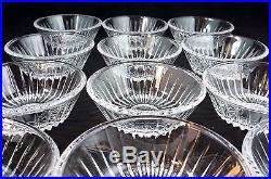 Set of 12 Val St. Lambert Crystal Dessert Bowls