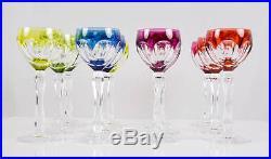 Set of 12 Val St Lambert Wine Glasses, circa 1950s