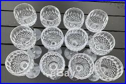 Set of 12 Waterford Crystal COLLEEN SHORT STEM (CUT) WINE HOCK GLASS Excellent