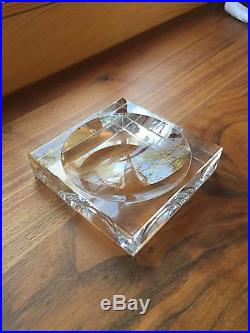 Set of 19 Baccarat Crystal Ashtrays in Varying Sizes