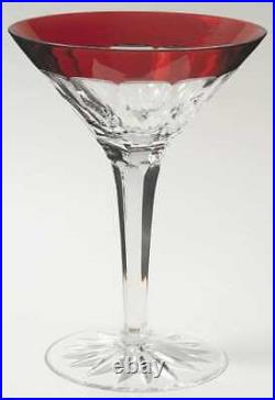 Set of 2 (1 Pair) Waterford Crystal Simply Red Martini Cocktail Glasses