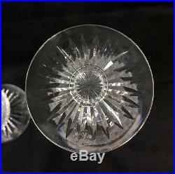 Set of 2 Edinburgh Crystal Tall Champagne Glasses / Flutes, Thistle 6-3/4 Mint