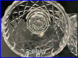 Set of 2 Waterford Crystal LISMORE Candelabras 10 1/4 Tall