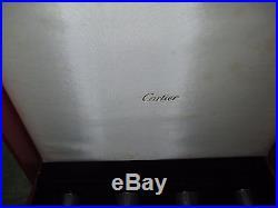 Set of 4 Cartier Crystal Champagne Flutes Presentation Box