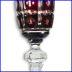 Set of 4 German Arnstadt Faberge Colored Crystal Champagne Glasses