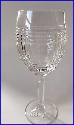 Set of 4 Ralph Lauren Crystal Glen Plaid Wine Glasses 8 1/4