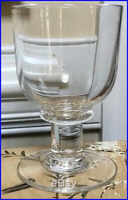 Set of 4 SIMON PEARCE Crystal ESSEX Hand Blown Glass 6 1/2 Water Goblets Signed