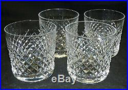 Set of 4 Vtg Waterford Crystal Glass Alana 3 1/4 Whiskey Old Fashioned Tumblers