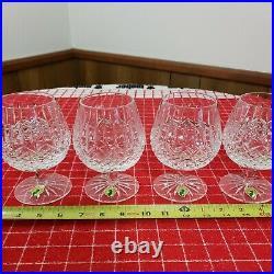 Set of 4 Waterford Ireland Crystal Ballybay Brandy Snifter Glasses EUC
