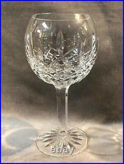 Set of 4 Waterford Irish Crystal Lismore 12 oz Balloon Wine Hock