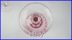 Set of 5 Val St. Lambert Crystal ZERMATT ROSE 6/1943 Water Goblets EX