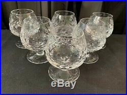 Set of 6 Rogaska GALLIA Yugoslavian Crystal Brandy Glasses 4 Tall
