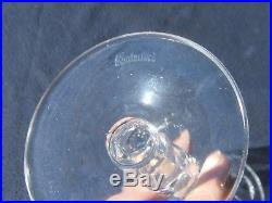 Set of 6 Signed Waterford Crystal Champagne Flute Sheila Blown Cut Glass Ireland