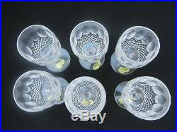 Set of 6 Waterford Crystal COLLEEN Short Stem White Wines Glasses 4-1/2 602/137