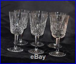 Set of 6 Waterford Crystal Lismore 10 oz Water Goblets- 7H Excellent