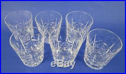 Set of 6 Waterford KYLEMORE Old Fashioned Rocks Tumbler Cut Irish Glass Crystal