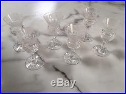 Set of 6 x Scottish Edinburgh Hand Cut Crystal Thistle Liqueur Glasses 3 & 3/8