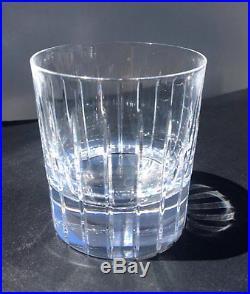 Set of 7 Christofle Crystal Double Old Fashioned Rocks Glasses Iriana Tumbler