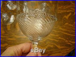 Set of 7 JULISKA HAND BLOWN Crystal Glass GRAHAM Wine 7 1/2 Tall GOBLETS