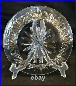 Set of 7 Marquis Waterford BROOKSIDE Crystal Glass 8Luncheon/Dessert Plates