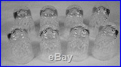 Set of 8 Lismore Pattern Waterford Crystal 14 oz Flat Tumbler Glasses Round Base