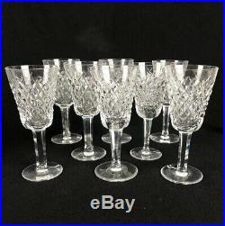 Set of 8 Waterford Ireland Crystal Alana Sherry Wine Glasses Stemware 5-1/8