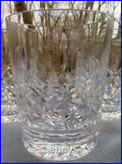 Set of FOUR Waterford Crystal Lismore Double Old Fashioned Tumblers Glasses