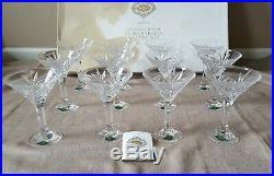 Shannon Crystal Godinger 24% lead 12 piece Dublin Martini glasses set orig box