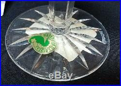 Signed Set 4 Waterford Cut Crystal Lismore Art Glass 10 oz Water Goblet with Box 1