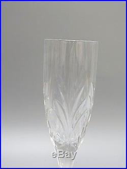 St Andrews Crystal Cisier Cut Glass Champagne Flutes Set Of 6-box- 8 2/3 Tall