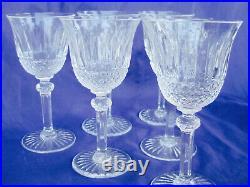 St Saint Louis TOMMY Set 6 Claret Wine Crystal Stem Clear Glasses 6 France BOX