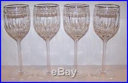 Stunning Set Of 4 Lenox Crystal Vintage Jewel Platinum 8 7/8 Water Goblets