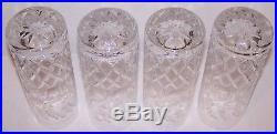 Stunning Set Of 4 Rogaska Crystal Gallia 6 7/8 Tom Collins Glasses