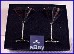 Swarovski Crystal CRYSTALLINE 6-3/4 Martini Stems SET OF TWO New in BOX