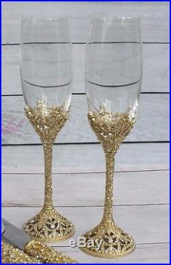 1045e4afd38 Swarovski Crystal Wedding Toast Set