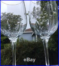 Tiffany & Co. Crystal Wine Glasses Starcut Pattern Set of 5 Star Cut
