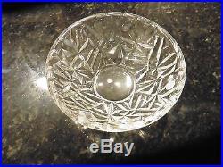 Tiffany Rock Cut Crystal Fruit Bowl Set, 1-9Bowl, 6-6Bowls Rock Cut Crystal