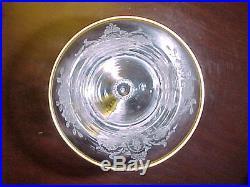Tiffin #17399 Cherokee Rose Talisman Crystal with Gold Trim 6 Piece Wine Set