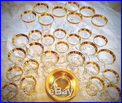 Tiffin Franciscan Regent (Gold Encrusted) Crystal Stemware 8 settings