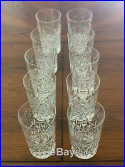 Used Crystal Rogaska Gallia Tumbler Glasses 5 3/8, Set of 10