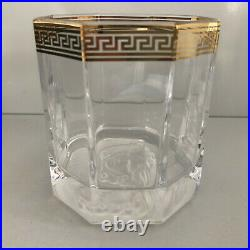 VERSACE Medusa Lumiere D'or WHISKEY GLASS Set of 2 New in Box Whisky Dor