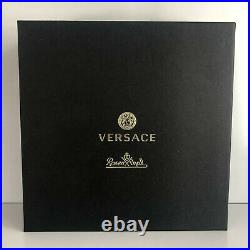 VERSACE Medusa Lumiere Haze Grey LONGDRINK GLASS Set of 2 New in Box Whisky