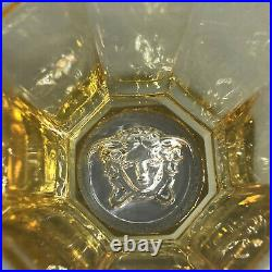 VERSACE Medusa Lumiere Rhapsody Amber WHISKEY GLASS Set of 2 New in Box Whisky