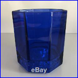 VERSACE Medusa Lumiere Rhapsody Blue WHISKEY GLASS Set of 2 New in Box Whisky