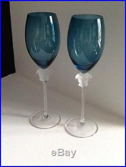 VERSACE ROSENTHAL MEDUSA Set Of 2 WINE GLASSES