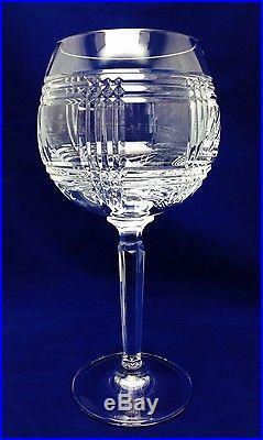 VERY RARE! Ralph Lauren Glen Plaid Balloon/Birdbath CRYSTAL Goblet SET OF 8