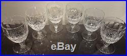 VINTAGE Waterford Crystal COLLEEN (1953-) Set 6 Water Goblets 5 1/8 9 oz