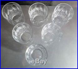 VINTAGE Waterford Crystal COLLEEN (1953-) set of 6 12oz Tumbler 4 3/8 Ireland